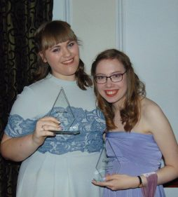 Louise Jones and Beth Carr, Orbital Magazine award winners